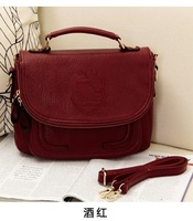 Fashion embossed 2013 PU british style fashion vintage small bag portable one shoulder cross-body women's