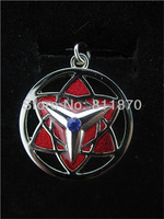 Free Shipping Naruto Sasuke Uchiha&Itachi Uchiha Mangekou Sharingan Necklace with Rhinestone for Cosplay party and Halloween