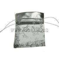 Free shipping!!!Jewelry Drawstring Bags,Designer, Organza, printing, translucent, black, 70x85mm, 100PC/Bag, Sold By Bag