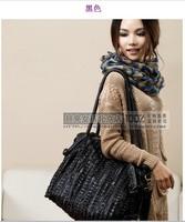 Pure sheepskin female bag retro bag stitching
