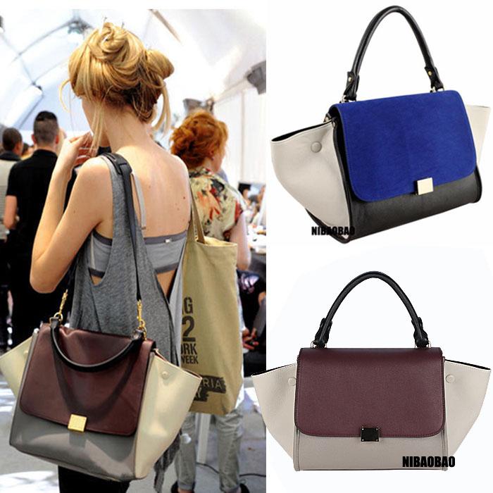 2013 New Fashion Trapeze high quality big ears bag smiley bag swing bag one shoulder women's branded handbag free shipping(China (Mainland))