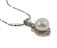 Free shipping!!!Natural Cultured Freshwater Pearl Jewelry Sets,Wedding, finger ring & earring & necklace, Dome, natural, white
