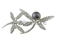 Free shipping!!!Rhinestone Brooch,Colorful Jewelry, with Cultured Freshwater Pearl & Brass, Dragonfly, with rhinestone