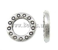 Free shipping!!!Zinc Alloy Jewelry Beads,Vintage Jewelry, Donut, antique silver color plated, nickel, lead & cadmium free