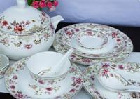 plate dish gift Chinaware dinnerware set 56 bowl bone china dinnerware set