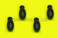Free shipping!!!Plastic Spring Stopper,Cute, black, 12x29mm, 300PCs/Lot, Sold By Lot