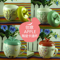 Bone china mug coffee mug cartoon cup romantic fruit style ceramic cup