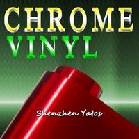 3M Red Chrome Vinyl Car Wrap/ Chrome Mirror Wrapping Air Bubble 1.52*30M/Roll