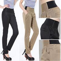 2012 elastic waist small harem pants butt-lifting mid waist pencil pants trousers