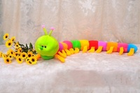 Free shipping, the caterpillar plush toys, low-priced sales, 50 cm, the color figures, 4 PCS / 1 lot, the lowest price
