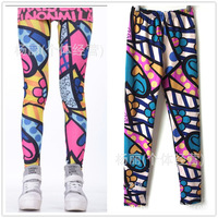 9265 new Korean graffiti flower flowers love spell geometric print leggings women Leggings female ladies legging Free Shipping
