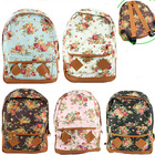 Women Fashion Vintage Cute Flower School Book Campus Bag Backpack New(China (Mainland))
