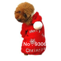 Free Shipping Christmas Dog Clothes Snow Coral Fleece Dog Coat Wholesale Retail