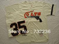 Wholesale&Retail Houston Colts jersey #35 Joe Morgan cream 1964 Throwback men's baseball jersey, size M-3XL, free shipp
