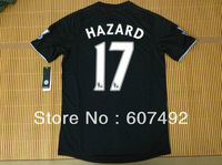 13/14 Top thailand quality Chelsea away #17 HAZARD jersey, player version with premier league patches on each sleeve