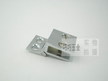 Copper 90 glass doors hinge wine cooler glass door hinge glass clamp kitchen cabinet glass clamp 6-8mm