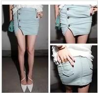 2014 new Excellent fashion denim short skirt bust skirt female jeans