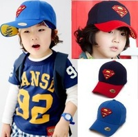 aoth73 red / blue color superman embroidery children snapback hat 2-8 age casual boys baseball cap free shipping 5pcs/ lot