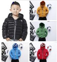 Hot Sales Brand Children kids unisex warm outdoor winter down jacket vest feather parkas coat hoodies outwear children girlsboys