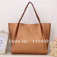 Apricot Leather Shopping Bag Shoulder Bag Messenger Bag Handbag