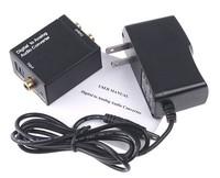 Audio Converter adapter digital Toslink Coax Coaxial to Analog RCA R/L audio converter adapter x 5pcs - Free Shipping