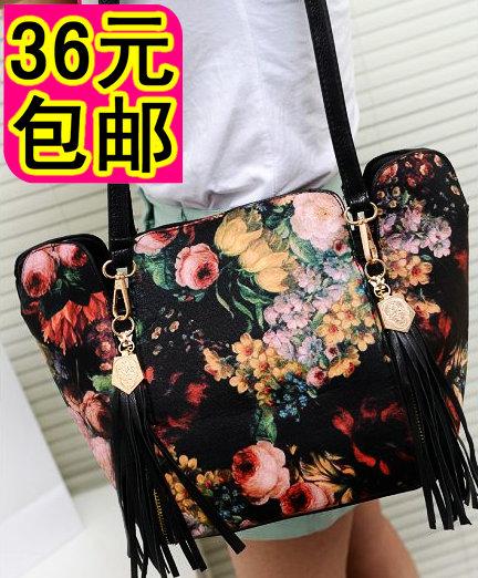 2013 messenger bag vintage skull tassel bag messenger bag handbag fashion women's handbag(China (Mainland))
