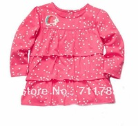 Free Shipping 2013 new arrival Carter's baby girl cotton long sleeve Tshirt, spring & autumn clothes for kids, 5pcs/lot