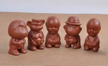 Funny figures for the tea ceremony magic ceramic tea toys 5 pcs lot pee children in