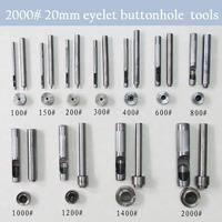 2000# 20 mm DIY handmade carbon steel metal eyelet buttonhole tools for make eyelet hole tool set