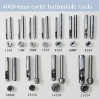 400# 6 mm DIY handmade carbon steel metal eyelet buttonhole tools for make eyelet hole tool set
