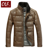 Men's leather clothing genuine leather down coat male sheepskin leather jacket genuine leather fur male clothing