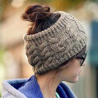 Hot Sale! Fashion Winter Warm Women Lady's Beanie Crochet Hat Ski Cap Fashion knitted headband Free Shipping