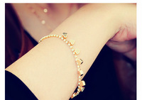 Fashion temperament peach heart crystal bracelet