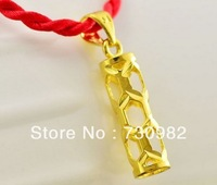 9k 14k 18k yellow gold pendants golden hollow pillar  style fashion suits for chain necklace   romantic  supprise birthday  gift