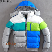 2013 new men's winter down jacket, winter coat. Multicolored mosaic outdoor sports coat thick warm coat