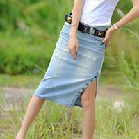 Free Shipping Women's High Quality Cotton Purple Striped Fashion Skirts