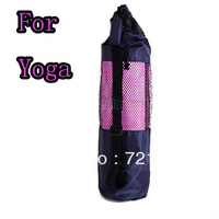 C18 Nylon Yoga Mat Bag Carrier Mesh Center Strap 26 Inch Black/Free Shipping