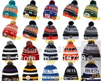 Free Shipping Wholesale sports beanies cap,2013 Winter Knitting Wool hats,Fashion sport beanies mix order