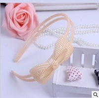 Free Shipping (20pcs/Lot)2013 Fashion Girl's Hair Sticks Simple Bow Pearl Design,Muliti-Color Optional,Baby Hair Beauty