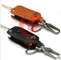 Skoda Octavia Fabia The new key bag leather key ring set out style