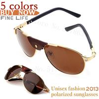 2014 Christmas new luxury pinnacle product stylish high-end anti UV Men sunglasses brand designer the sun glasses Unisex