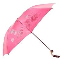 Newest Plastic color three fold umbrella bombonony flash discoloration anti-uv sun protection umbrella folding umbrella