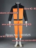 Free Shipping  Apparel Naruto Shippuden Uzumaki 2nd Cosplay Costume, any measurements