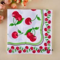 Multicolour table napkin paper tissue facial tissue paper wedding tissue bandana mouth cloth placemat cherry b50