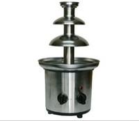 New Dual knobs 3 layer Chocolate Fountain Chafing Dish Chocolate Waterfall Machine Stainless Steel Mini Chocolate Machine