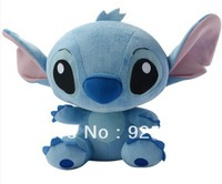 Fee Shipping Promotion Stitch, plush toys, Christmas gifts, wholesale, about 28 cm, blue 4 PCS/lot