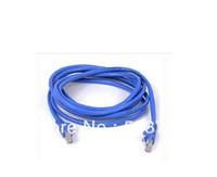 Whole Sale 2pcs 5M ethernet cable blue ethernet line FT RJ45 CAT5 CAT5E Ethernet LAN Network Cable 1m jumper line Free Shipping