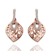 Free Shipping | Drop Earrings | 18K Glod plated earring  | Hollow carved Earrings |womens accessories | new 2013