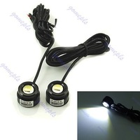 Free Shipping 2 x Waterproof Car LED DRL Reversing Backup Lights 1W