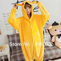 K2 Pikachu Design Autumn and winter flannel thatmany animal one piece sleepwear long-sleeve lounge Pajama